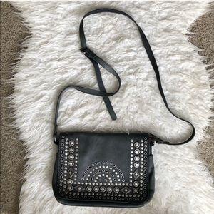 Patricia Nash beaded crossbody purse gray leather